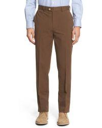 Bensol - Trim Fit Stretch Cotton Ottoman Trousers - Lyst