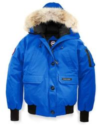 Canada Goose - Pbi Chilliwack Hooded Down Bomber Jacket With Genuine Coyote Fur Trim - Lyst