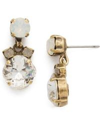 Sorrelli - Balsam Crystal Drop Earrings - Lyst