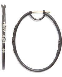 Armenta - Old World Eternity Diamond Hoop Earrings - Lyst