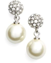 Givenchy | Fireball Imitation Pearl Drop Earrings | Lyst