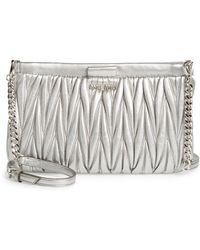 Miu Miu - Matelasse Lambskin Leather Clutch - - Lyst