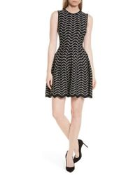 Ted Baker - Bryena Jacquard Fit & Flare Dress - Lyst