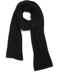 John Varvatos - Plated Thermal Knit Merino Wool Scarf - Lyst
