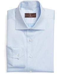 Robert Talbott - Tailored Fit Solid Dress Shirt - Lyst
