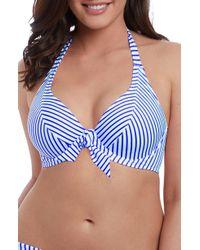 Freya - Totally Stripe Halter Bikini Top - Lyst