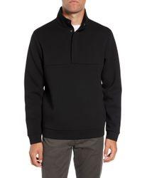 Calibrate - Snap Neck Fleece Pullover - Lyst