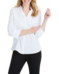 Foxcroft - Mary Star Dot Shirt - Lyst