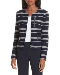 BOSS - Kanoa Stripe Jacket - Lyst