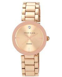 Anne Klein | Mirror Bezel Bracelet Watch | Lyst