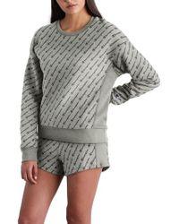Champion - All Over Logo Reverse Weave Sweatshirt - Lyst