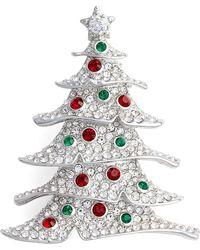 Nadri - Jolly Christmas Tree Pin - Lyst