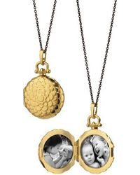 Monica Rich Kosann - Scalloped Locket Necklace - Lyst