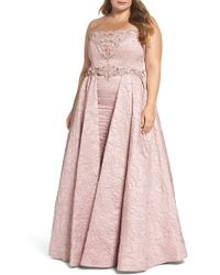 Mac Duggal - Bustier Strapless Flared Gown - Lyst