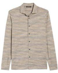 Bugatchi - Regular Fit Striated Knit Sport Shirt - Lyst