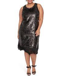RACHEL Rachel Roy - Lea Sequin Fringe Detail Dress - Lyst
