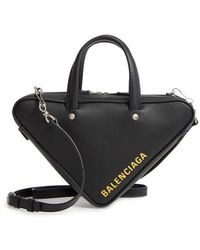 Balenciaga - Extra Small Triangle Leather Bag - - Lyst