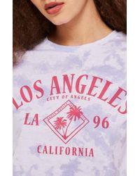 TOPSHOP - Los Angeles Crop Tee - Lyst
