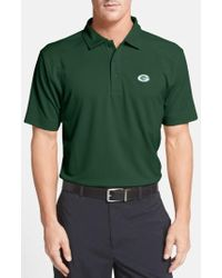 Cutter & Buck | 'Green Bay Packers - Genre' Drytec Moisture Wicking Polo, Green | Lyst