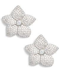 Kate Spade - Blooming Pave Stud Earrings - Lyst