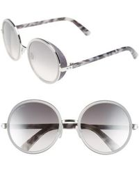 Jimmy Choo - 'andies' 54mm Round Sunglasses - Palladium - Lyst