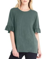 Michael Stars - Ruffle Sleeve Top - Lyst