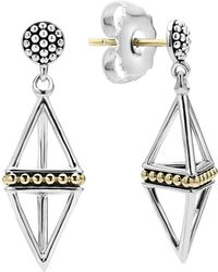 Lagos - Pyramid Drop Earrings - Lyst