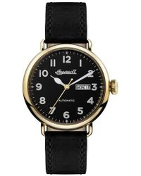 INGERSOLL WATCHES - Ingersoll Trenton Automatic Leather Strap Watch - Lyst