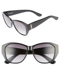 Saint Laurent | 56mm Sunglasses | Lyst