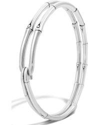 John Hardy - 'bamboo' Silver Hook Bracelet - Lyst