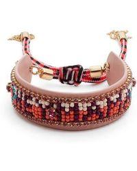 Rebecca Minkoff - Beaded Friendship Bracelet - Lyst