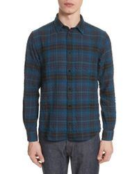 Norse Projects | Osvald Textured Check Flannel Shirt | Lyst