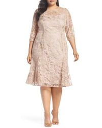Alex Evenings - Embroidered Fit & Flare Dress - Lyst