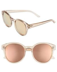 Le Specs - Paramount 52mm Round Sunglasses - Tan - Lyst