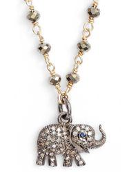 Ela Rae - Pheoebe Pyrite Necklace - Lyst
