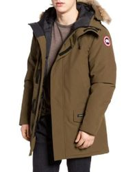 Canada Goose   Langford Slim Fit Down Parka With Genuine Coyote Fur Trim   Lyst