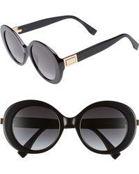 Fendi - 52mm Round Sunglasses - - Lyst