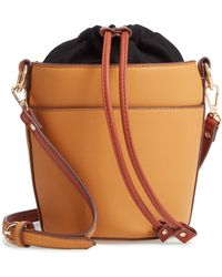 Chelsea28 - Izzy Faux Leather Bucket Bag - - Lyst