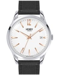 Henry London - 'highgate' Leather Strap Watch - Lyst
