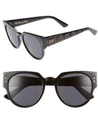 4cffc63e1ba8a Lyst - Dior Lady 1 Cannage Sunglasses Black in Metallic