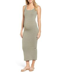 Tees by Tina - Micro Stripe Maternity Dress - Lyst