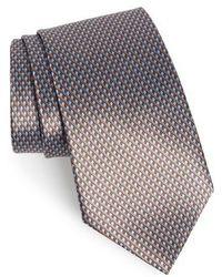 Ermenegildo Zegna - Solid Silk Tie - Lyst