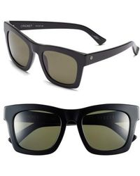 Electric - 'crasher' 54mm Retro Sunglasses - Gloss Black/ Grey - Lyst