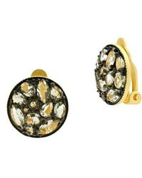 Freida Rothman - Rose Dor Disc Clip Earrings - Lyst