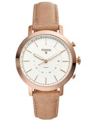 Fossil Q - Neely Leather Strap Hybrid Smart Watch - Lyst