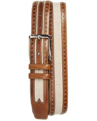 Mezlan - Palma Linen & Leather Belt - Lyst