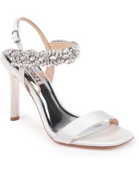 723e66494ee0 Badgley Mischka - Badgley Mischka Lilly Embellished Sandal - Lyst