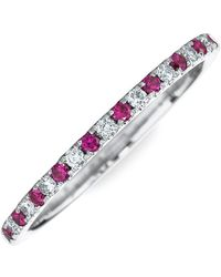 Kwiat - Diamond & Ruby Stackable Ring - Lyst