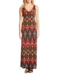 Karen Kane - Side Slit Sleeveless Maxi Dress - Lyst