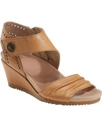99756885ac4 Lyst - Earth Sweetpea Leather Wedge Sandal in Brown